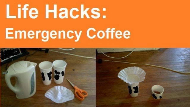 Brew an Emergency Cup of Coffee with Two Paper Cups and a Filter