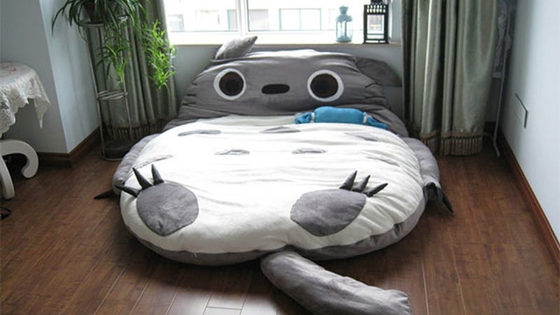 Adorable Totoro bed fulfills all our extreme cuddle needs