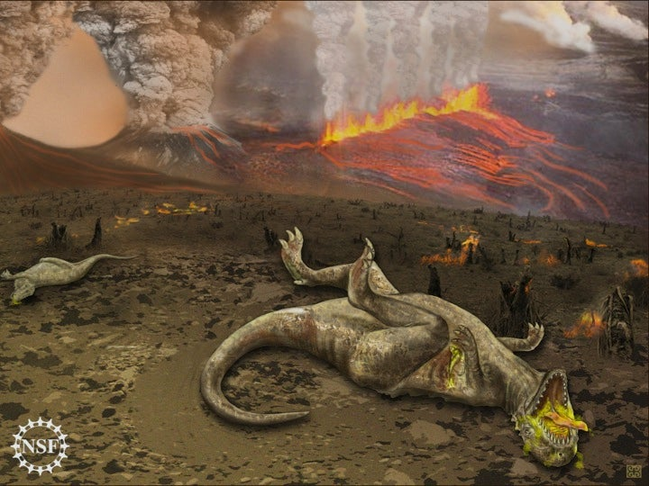 More evidence that volcanoes killed the dinosaurs