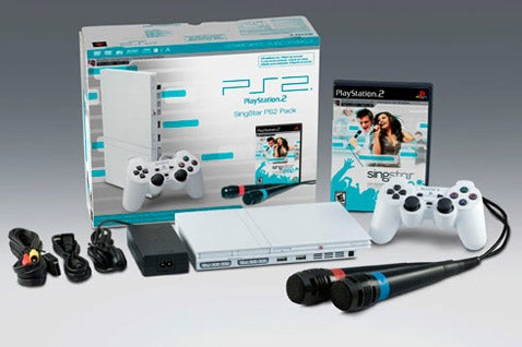 White PS2 Coming Bundled With SingStar