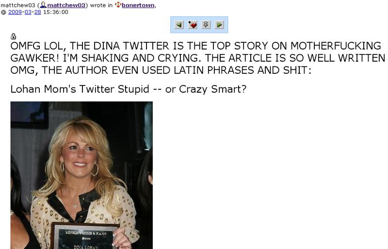 Comic Genius Behind Dina Lohan's Fake Tweets Outed