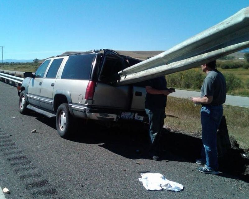 Shish-Ka-Burban: Guardrail Skewers SUV