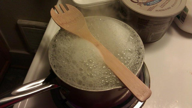 Use a Wooden Spoon to Stop Pots from Boiling Over