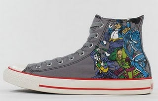 Custom superhero Converse help your feet triumph over evil