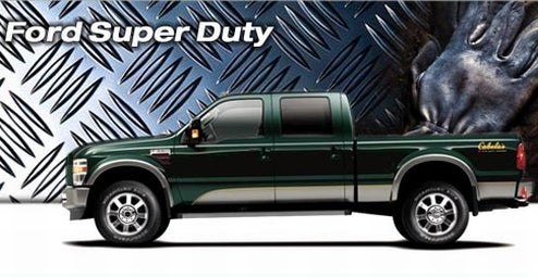 "Ford Reveals 2009 Super Duty Cabela's FX4 For ""Hook And Bullet"" Crowd, ""Big Hog Daddy"" Harley-Davidson Edition F-450 For Leather And Chaps Crowd"