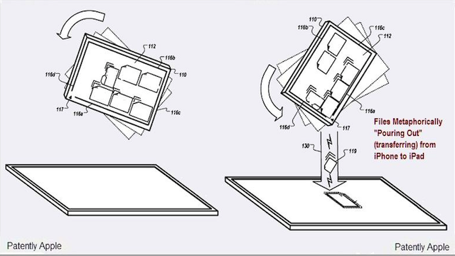 Apple Patent Shows Visual Content Sharing Between iPad and iPhone