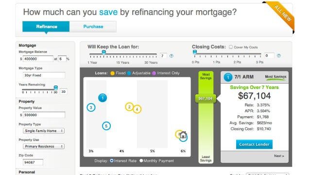 Credit Sesame's Interactive Mortgage Map Visually Compares Your Mortgage Loan Options