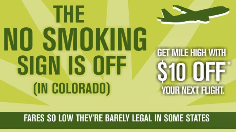 Spirit Airlines Totally Wants To Appeal To Stoners, Man