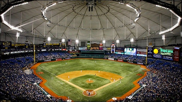 Stray Bullet Falls Through Tropicana Field Roof, Hits Fan