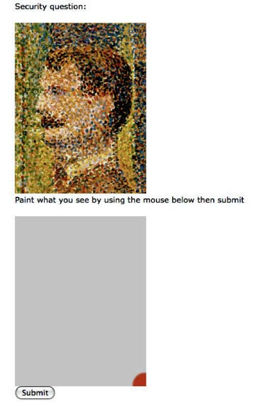 Artist's Unique CAPTCHA Requires Visitors Also Be Artists