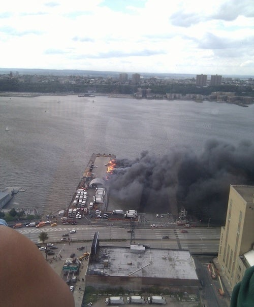 A Manhattan Pier Is on Fire (Updated)