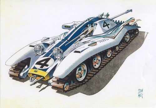 Tank-Racecar Mashups are a Different Brand of Hybrid Vehicle
