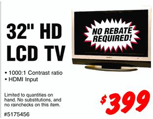 Dealzmodo: 32-inch TV for $399 In Bay Area and LA