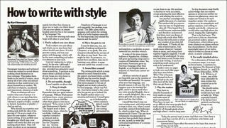 Kurt Vonnegut's Elements Of Style