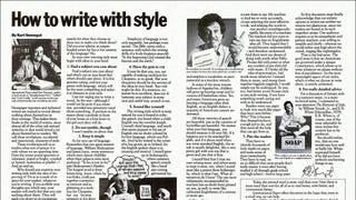 Kurt Vonnegut's Elements Of Style