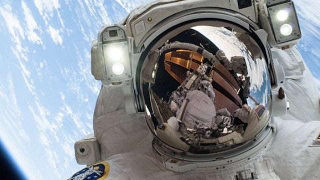The best selfie ever is the one an astronaut takes from freaking space