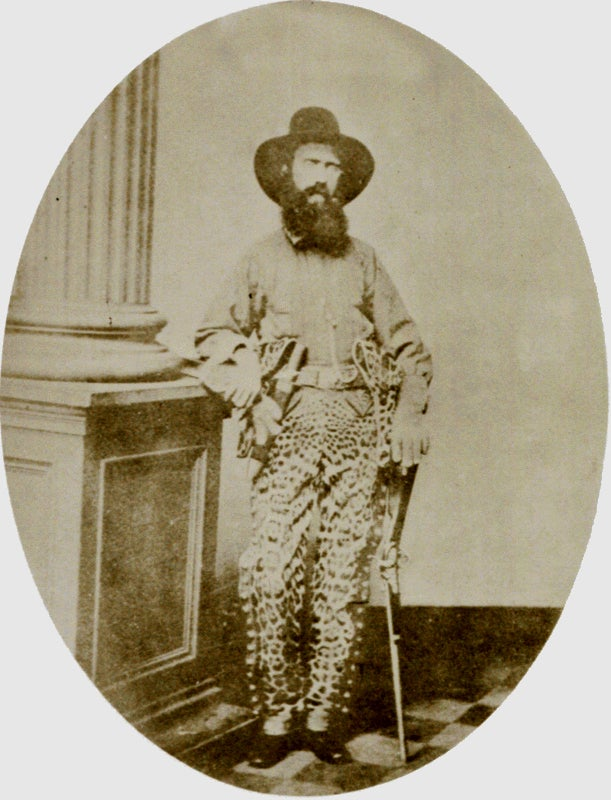 The Confederate captain wore jaguar pants