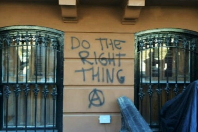 """Do the Right Thing"" Painted on House Next to Spike Lee's Old Home"