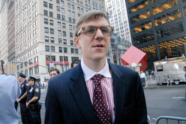 James O'Keefe Reportedly Creeping Around Occupy Wall Street