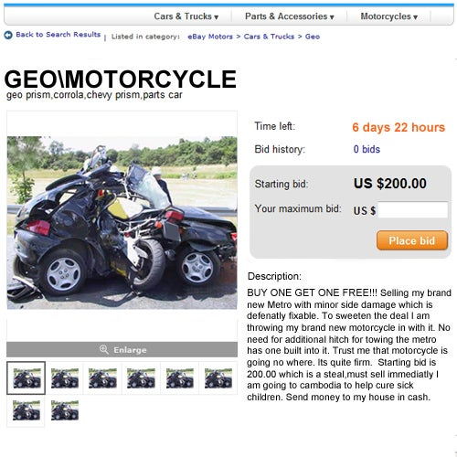 How To Not Get Screwed On eBay Motors, From The Horse's Mouth