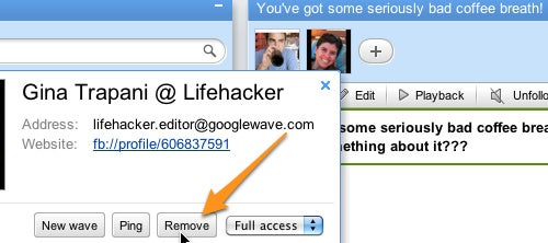 Google Wave Now Lets You Remove Participants