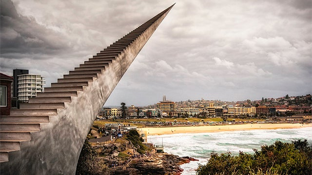 Amazing stairway in Australia seems to go to heaven