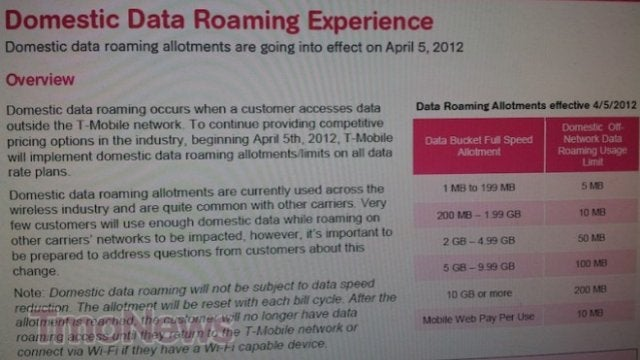 T-Mobile Plans to Cap Domestic Data Roaming Starting April 5th