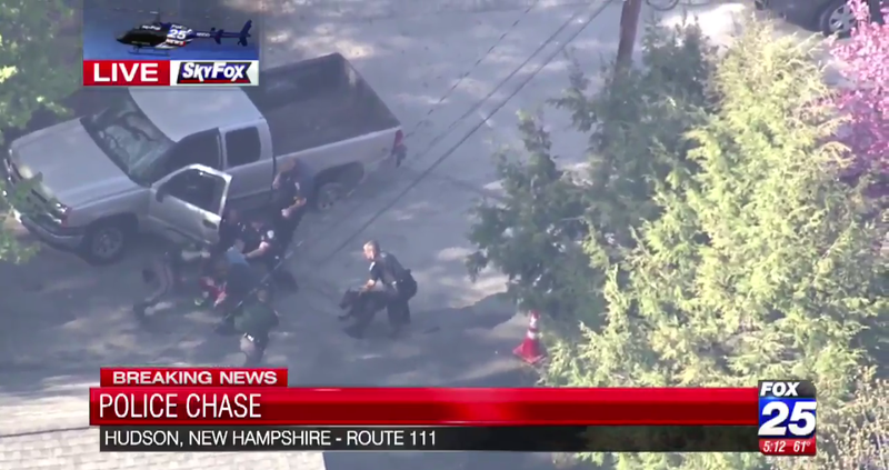 News Helicopter Captures Police Beating the Shit Out of Car Chase Suspect As He Surrenders