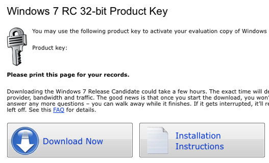 Windows 7 RC Available for Download Now