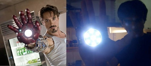 DIY Iron Man Repulsor Light Won't Repulse Anybody, May Dazzle 'Em