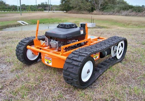 Friendly R/C Lawnmower, Meet Vicious Tank
