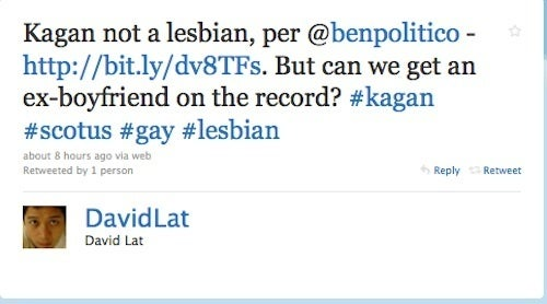 Friends, Peers Testify That Elena Kagan Is Not A Lesbian