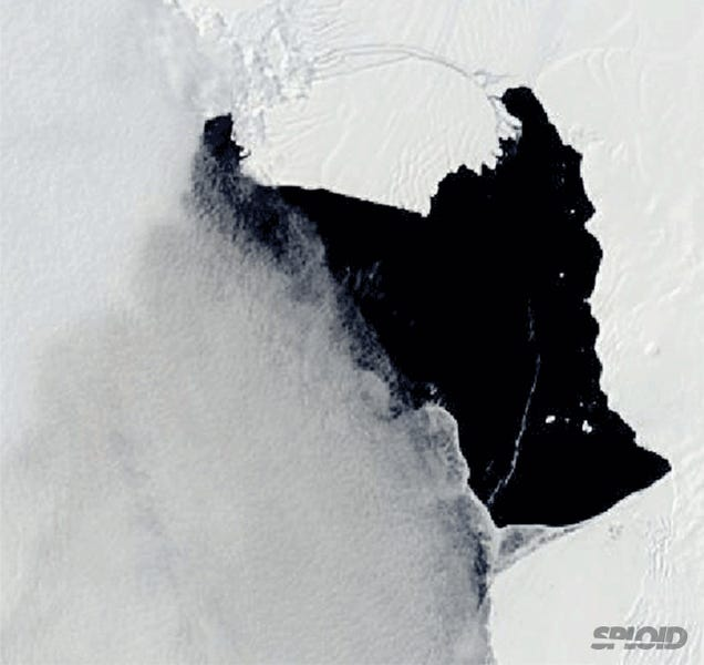 An iceberg the size of Singapore is now leaving Antarctica