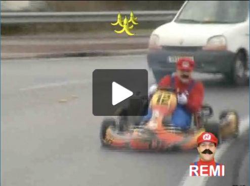 French Prankster Makes Real Life Mario Kart