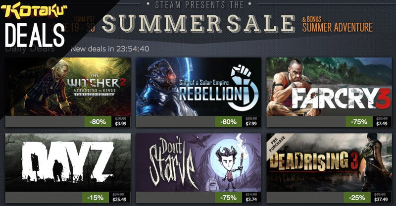 Steam Summer Sale Day One and More Deals