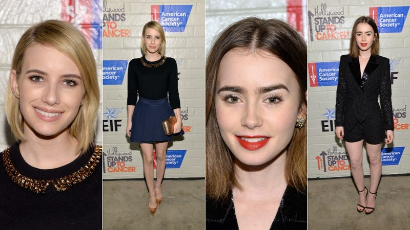 Bold Lips and Lots of Cleavage at the Stand Up To Cancer Event