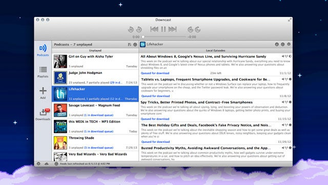 Downcast for Mac Brings Our Favorite Podcatcher to OS X