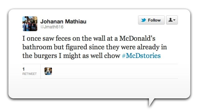 McDonald's Twitter Marketing Turns into Disgusting Customer Revolt