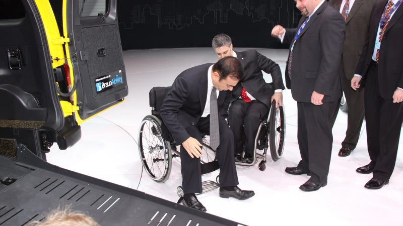 Nissan Finally Unveils Wheelchair-Accessible Cab