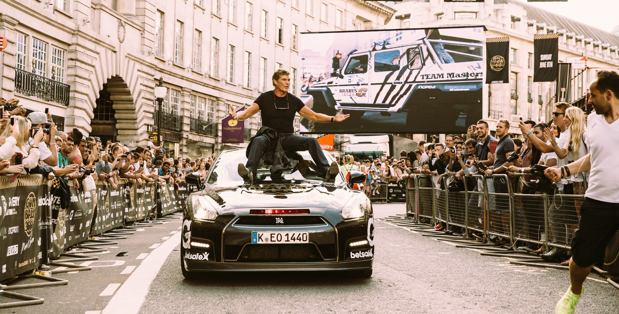 Here Is David Hasselhoff Riding A GT-R At The Gumball