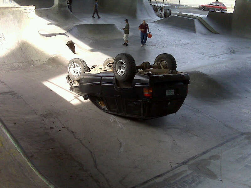 Burnside Skate Park Rollover