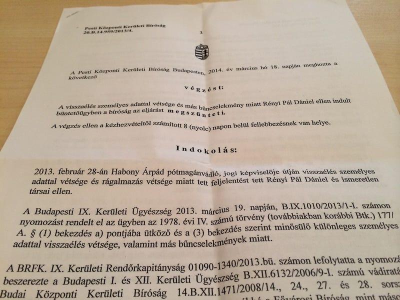 """Habony """"Cincogó"""" Árpádról joggal írták meg, hogy hasba rúgott egy nőt"""