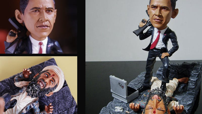 Obama Kills Osama Collectible Figurine Should Be Made Into a Giant Statue