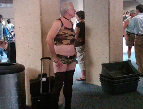 Camo Pantie Grandpa Free to Fly Anywhere He Chooses