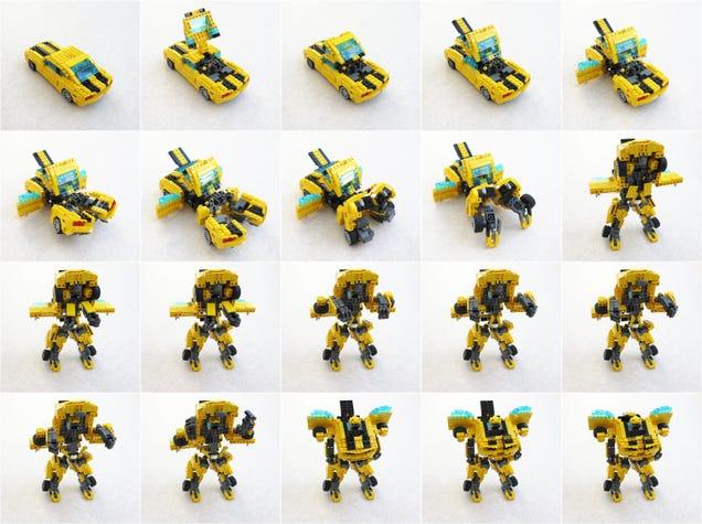 Как сделать из лего робота который трансформируется в машину