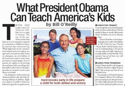 Bill O'Reilly Loves Kids, Obama