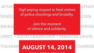 Nationwide Moment of Silence Tonight, August 14th