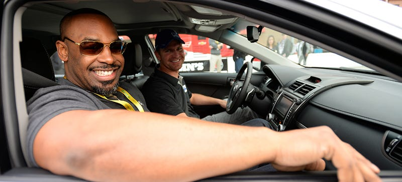 Donovan McNabb Finally Meets Some Non-Athletes At NASCAR Race