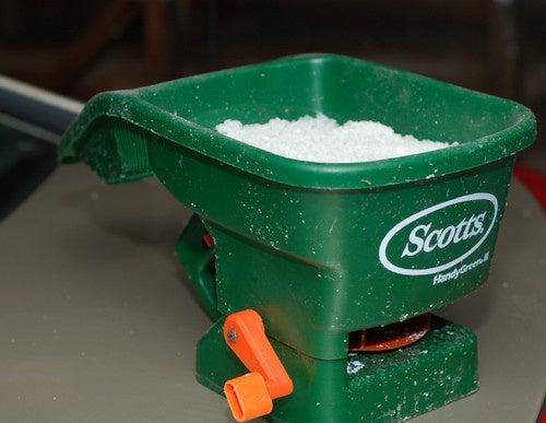 Use a Fertilizer Spreader to Spread Salt Evenly