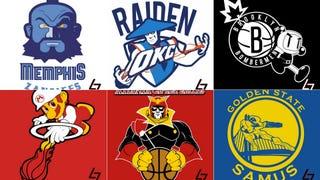 NBA Logos As Video Game Characters